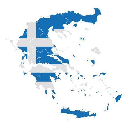 Greece National flag map icon Çizim