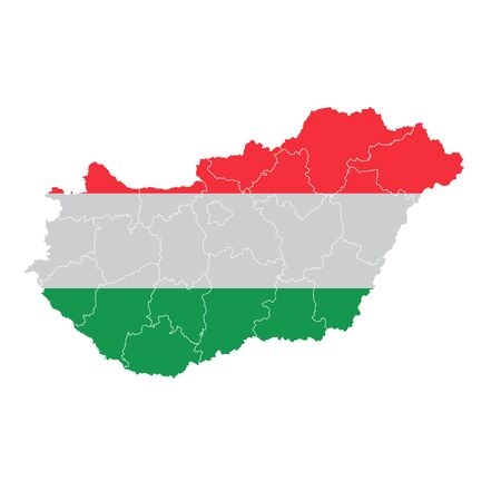 Hungary National flag map icon