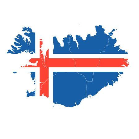 Iceland National flag map icon