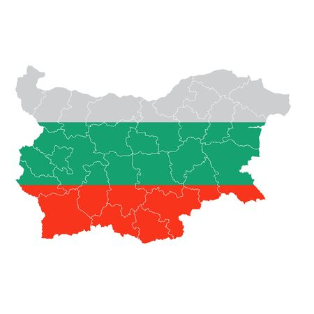 Bulgaria National flag map icon