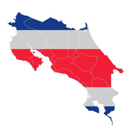Costa Rica National flag map icon