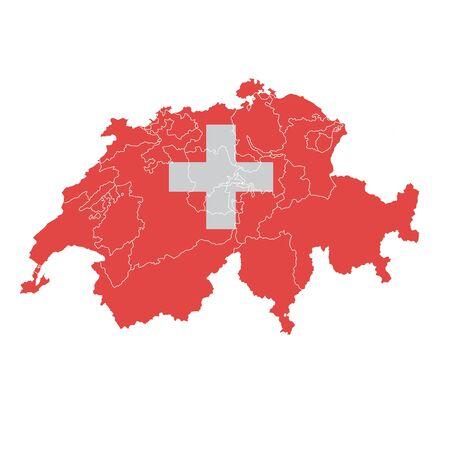 Switzerland National flag map icon