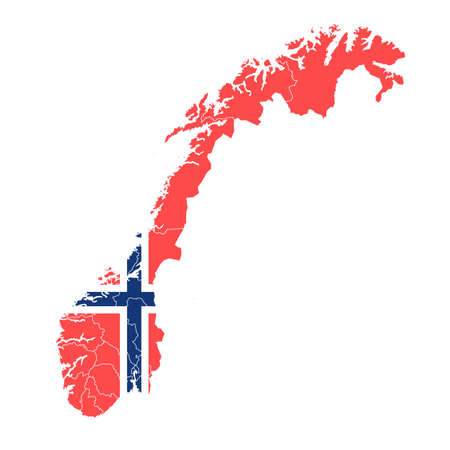 Norway National flag map icon