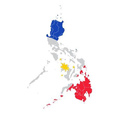 Philippines National flag map icon Illusztráció