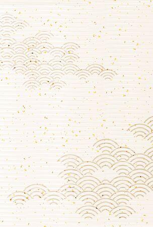 Sea wave Japanese pattern background Vektorové ilustrace