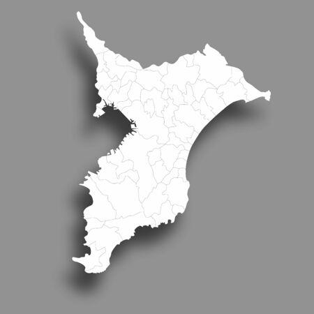 Chiba Map Silhouette Prefecture Frame Icon