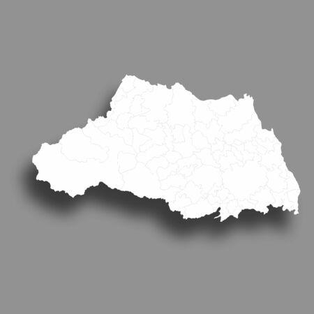 Saitama Map Silhouette Prefecture Frame Icon