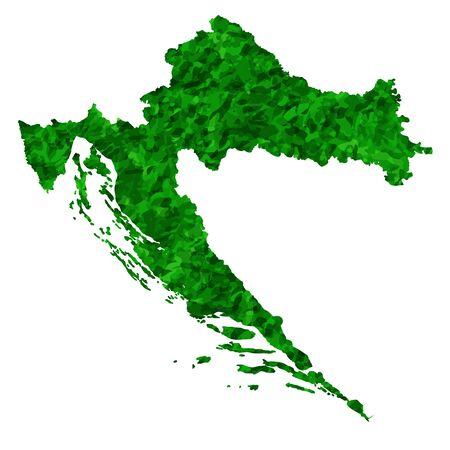 Croatia Map country green icon