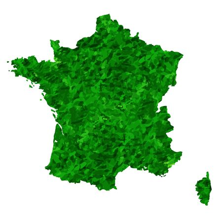 France Map country green icon Ilustracja