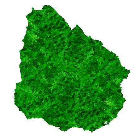 Uruguay Map country green icon