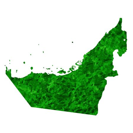 United Arab Emirates Map country green icon