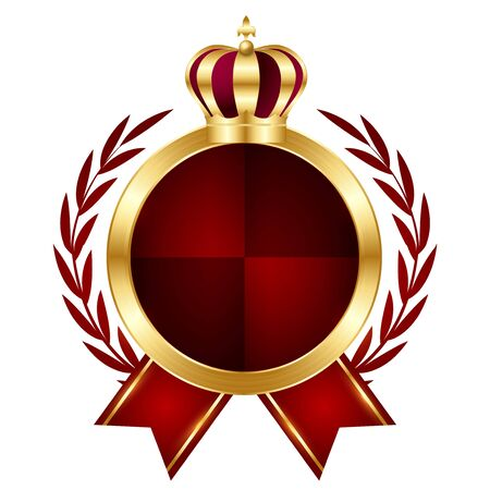 Crown medal gold light icon Banque d'images - 140003365