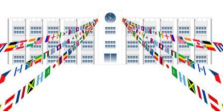 National flag sports day school background Ilustrace