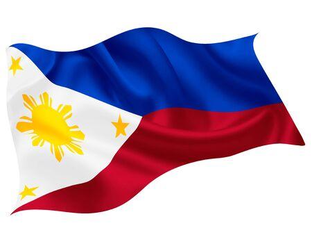 Philippines national flag world icon Illusztráció