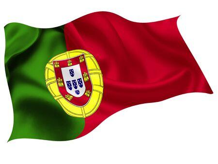 Portugal national flag world icon Иллюстрация