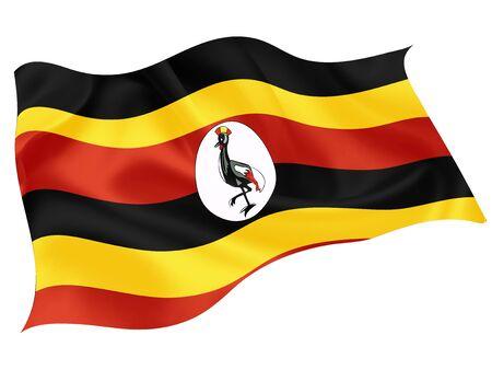 Uganda national flag world icon
