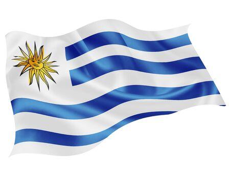Uruguay national flag world icon