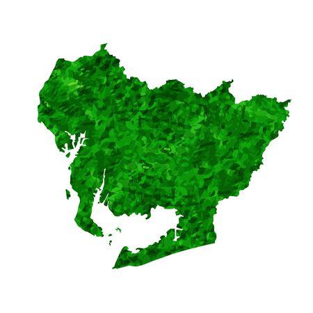 Aichi Map prefecture green icon
