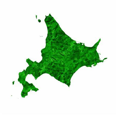 Hokkaido Map prefecture green icon