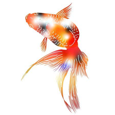 Goldfish hot summer summer icon