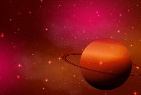 Planet Space Saturn Light Background