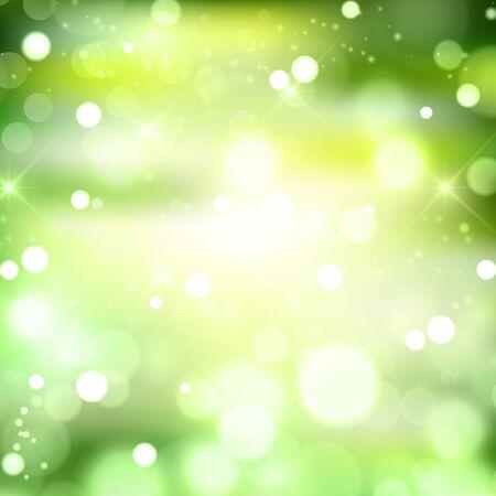 Fresh green sky light background Vettoriali