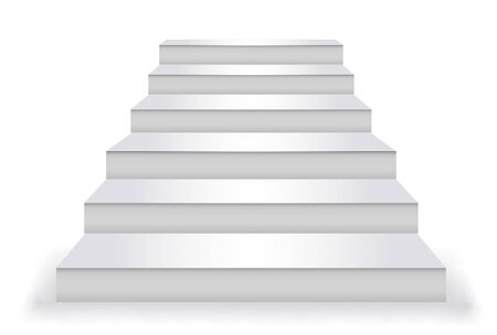 Stairs silhouette white step icon