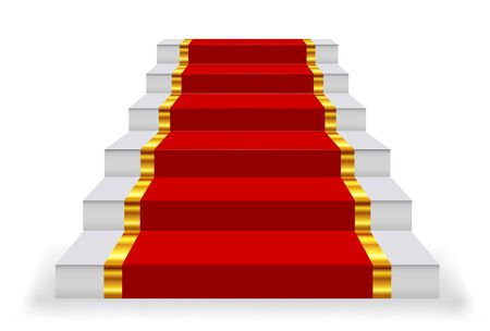 Stairs carpet step icon red