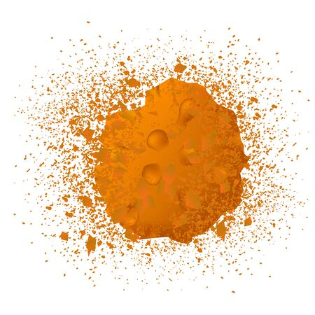 Corona virus destruction fungus icon