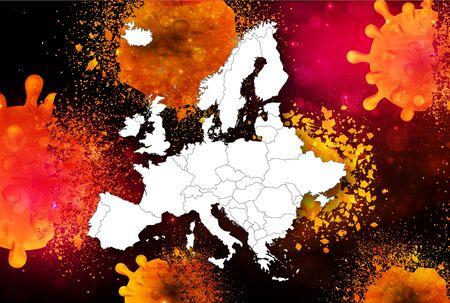 Corona virus European repulsion background