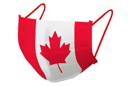 Canada mask flag prevention icon