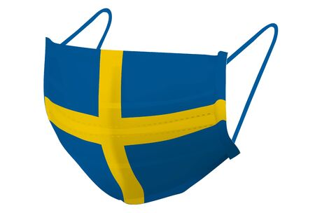 Sweden mask flag prevention icon