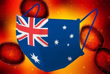 Australia Mask corona virus background