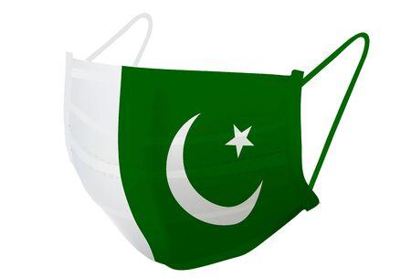 Pakistan Mask national flag icon Illustration