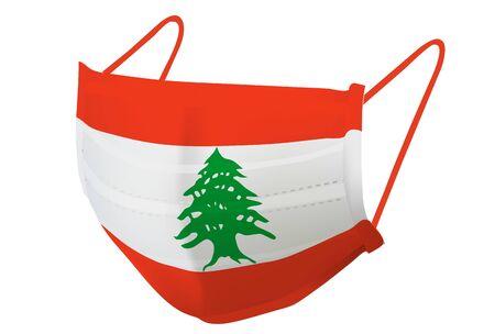 Lebanon Mask national flag icon
