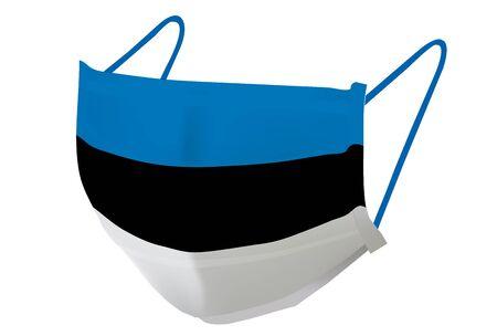 Estonia Mask national flag icon