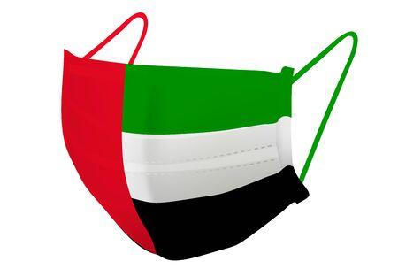 United Arab Emirates Mask national flag icon 向量圖像