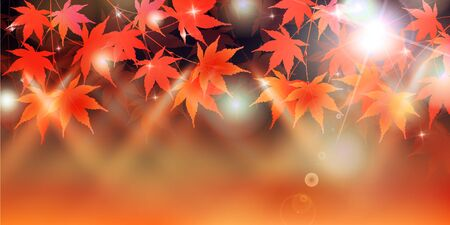 Maple leaf autumn Japanese paper background