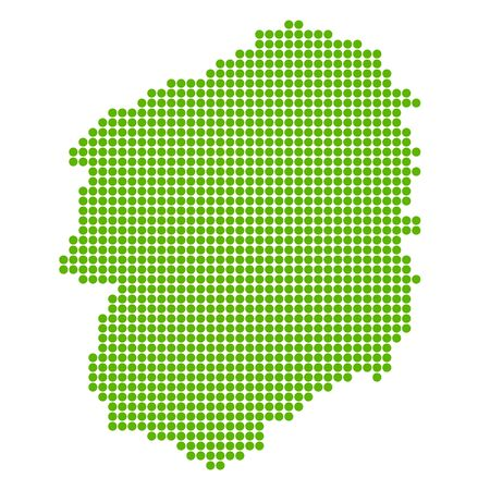 Tochigi Map circle polka dot icon