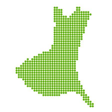 Ibaraki Map circle polka dot icon
