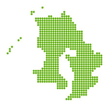 Kagoshima Map circle polka dot icon