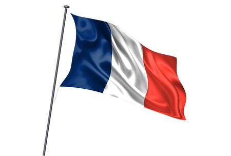 France National flag pole icon