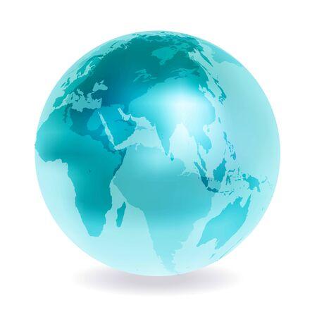 Earth World Map Sphere Icon Ilustración de vector