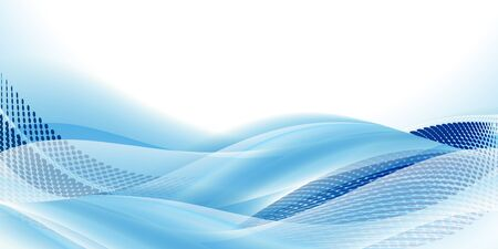 Wave sea curve blue background