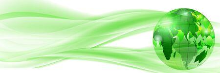 Earth fresh green wave background