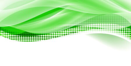 Fresh green wave green background Illustration
