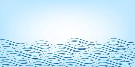Wave sea curve summer background