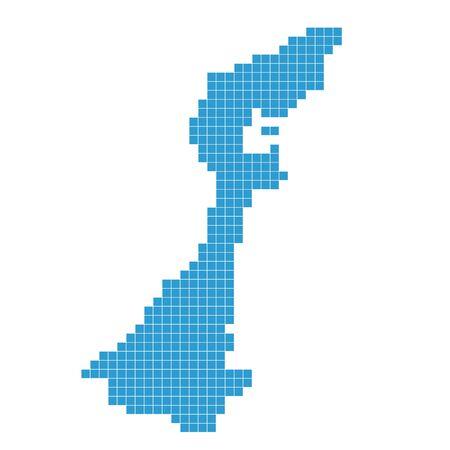 Ishikawa Map dot blue icon Vektorové ilustrace