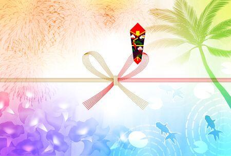 Sea fireworks Noshi Goldfish background