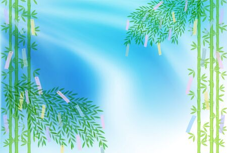 Tanabata Milky Way Bamboo grass background